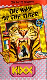 Box cover for The Way of the Tiger on the Commodore 64.