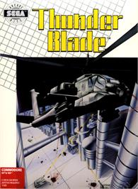 Box cover for ThunderBlade on the Commodore 64.