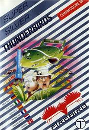 Box cover for Thunderbirds on the Commodore 64.