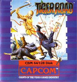 Box cover for Tiger Road on the Commodore 64.