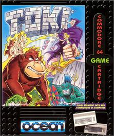 Box cover for Toki: Going Ape Spit on the Commodore 64.