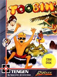 Box cover for Toobin' on the Commodore 64.