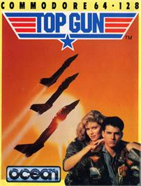 Box cover for Top Gun on the Commodore 64.