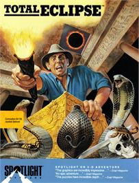 Box cover for Total Eclipse on the Commodore 64.