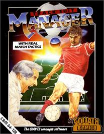 Box cover for Tracksuit Manager on the Commodore 64.