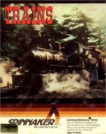 Box cover for Trains on the Commodore 64.