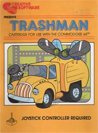 Box cover for Trashman on the Commodore 64.