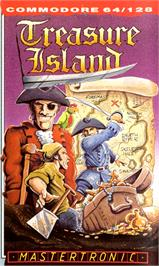 Box cover for Treasure Island on the Commodore 64.