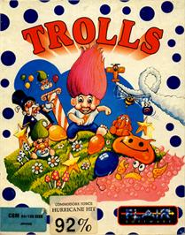Box cover for Trolls on the Commodore 64.