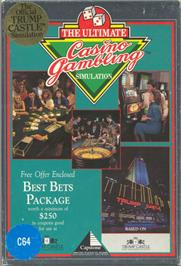 Box cover for Trump Castle: The Ultimate Casino Gambling Simulation on the Commodore 64.