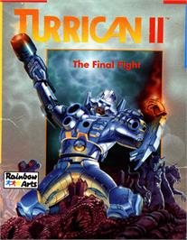 Box cover for Turrican II: The Final Fight on the Commodore 64.