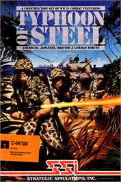 Box cover for Typhoon of Steel on the Commodore 64.
