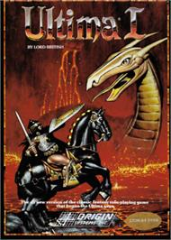 Box cover for Ultima I: The First Age of Darkness on the Commodore 64.