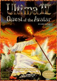 Box cover for Ultima IV: Quest of the Avatar on the Commodore 64.