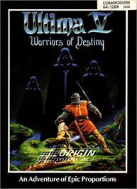 Box cover for Ultima V: Warriors of Destiny on the Commodore 64.