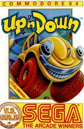 Box cover for Up 'n Down on the Commodore 64.