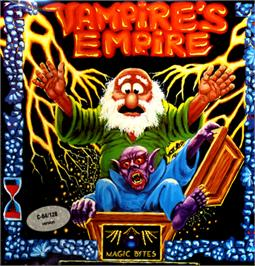Box cover for Vampire's Empire on the Commodore 64.