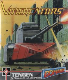 Box cover for Vindicators on the Commodore 64.