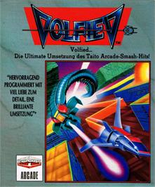Box cover for Volfied on the Commodore 64.