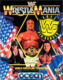 Box cover for WWF Wrestlemania on the Commodore 64.