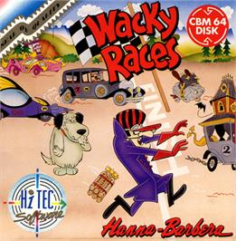 Box cover for Wacky Races on the Commodore 64.