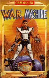 Box cover for War Machine on the Commodore 64.