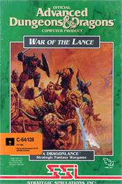Box cover for War of the Lance on the Commodore 64.