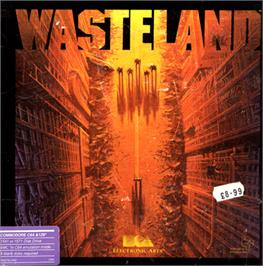 Box cover for Wasteland on the Commodore 64.