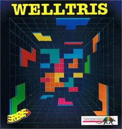Box cover for Welltris on the Commodore 64.