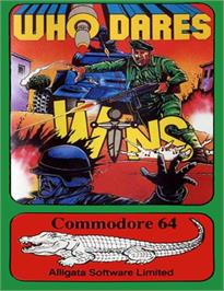Box cover for Who Dares Wins on the Commodore 64.