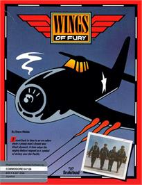 Box cover for Wings of Fury on the Commodore 64.