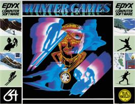 Box cover for Winter Games on the Commodore 64.