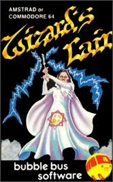 Box cover for Wizard's Lair on the Commodore 64.
