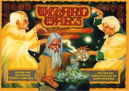 Box cover for Wizard Warz on the Commodore 64.