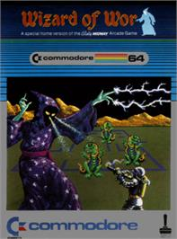 Box cover for Wizard of Wor on the Commodore 64.