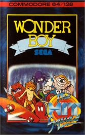 Box cover for Wonder Boy on the Commodore 64.
