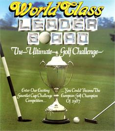 Box cover for World Class Leader Board on the Commodore 64.