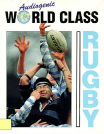 Box cover for World Class Rugby on the Commodore 64.
