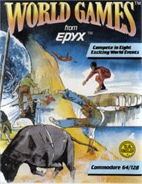 Box cover for World Games on the Commodore 64.