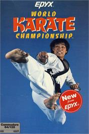 Box cover for World Karate Championship on the Commodore 64.