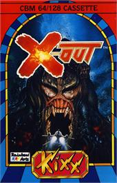 Box cover for X-Out on the Commodore 64.
