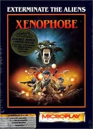 Box cover for Xenophobe on the Commodore 64.