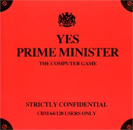 Box cover for Yes, Prime Minister on the Commodore 64.