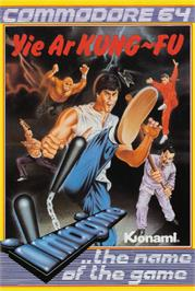 Box cover for Yie Ar Kung-Fu on the Commodore 64.