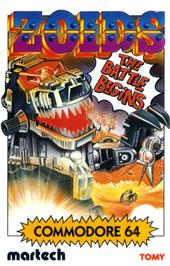Box cover for Zoids on the Commodore 64.