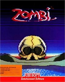 Box cover for Zombi on the Commodore 64.