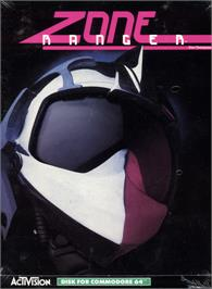 Box cover for Zone Ranger on the Commodore 64.