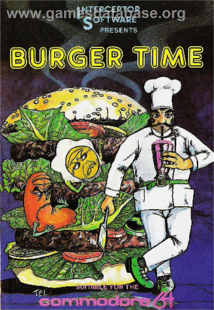 BurgerTime - Commodore 64 - Artwork - Box