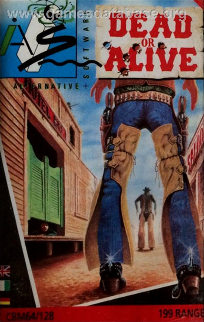 Dead or Alive - Commodore 64 - Artwork - Box