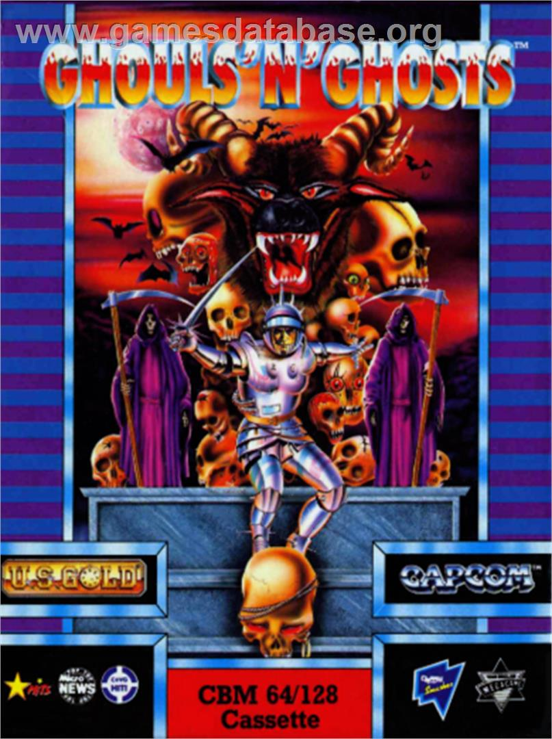 Ghouls'n Ghosts - Commodore 64 - Artwork - Box